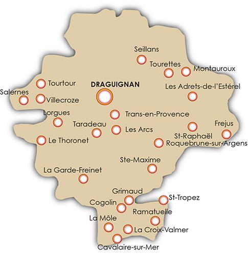 Draguignan Carte | Carte