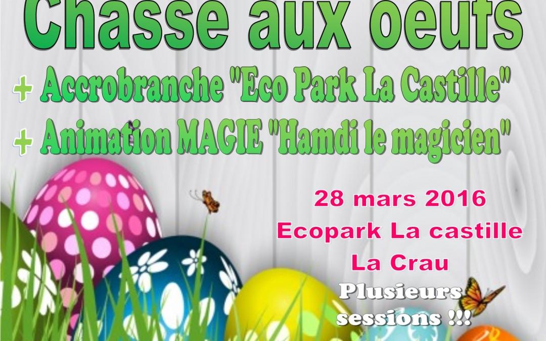 Chasse aux oeufs 2016 : Ecopark La Castille