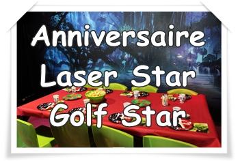 LASER STAR – GOLF STAR : multi-anniversaires enfant/ado intérieur «clé en main»
