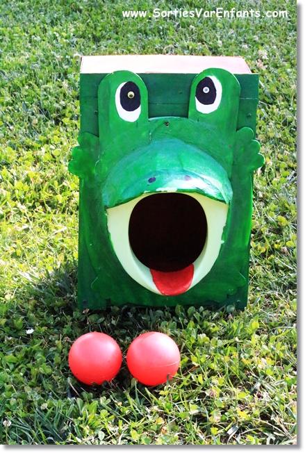 La grenouille mange-balles
