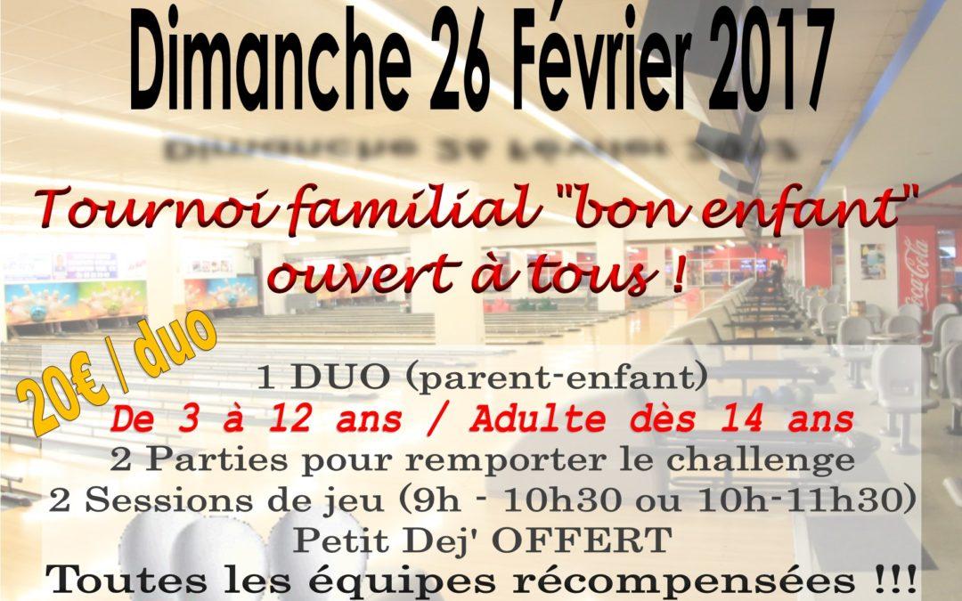 CHALLENGE BOWLING FAMILLE au Bowling de Provence