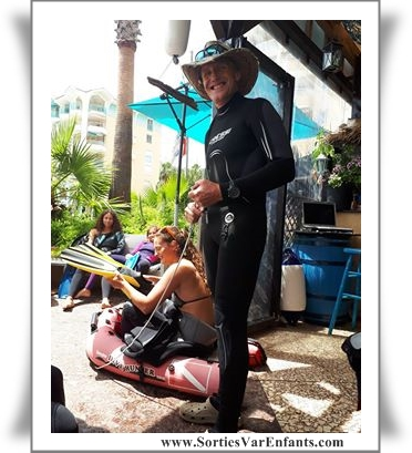 randonnée, mer, aquatique, fréjus, Var, 83, sortie, enfant, famille