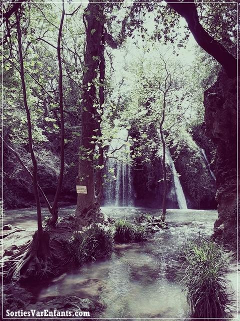 chutes, cascade, enfant, Var, 83, sortie, promenade, balade, nature, camping